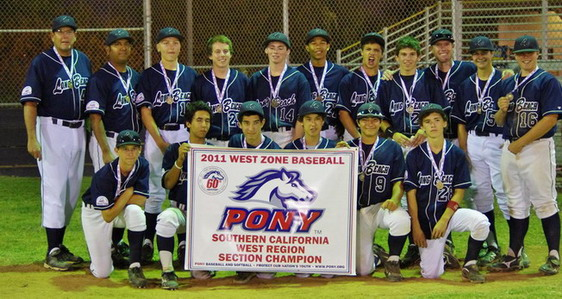 2011 PONY West Zone - West Section Tournament Champions